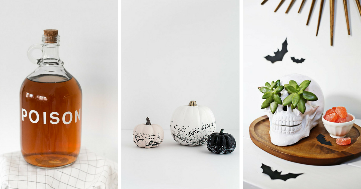 minimal Halloween decor | easy Halloween decor | DIY Halloween decorations | chic Halloween decor
